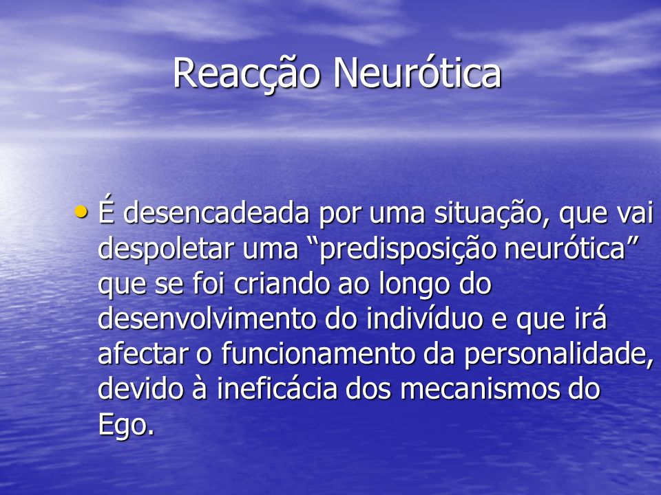 Reacção Neurótica