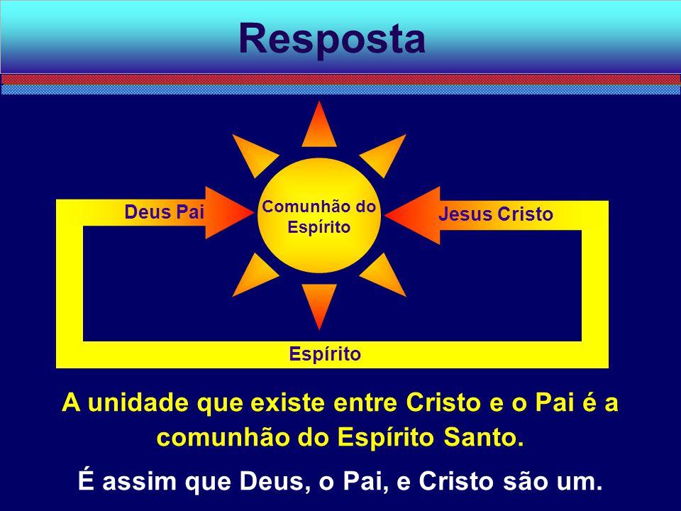 É assim que Deus, o Pai, e Cristo são um.