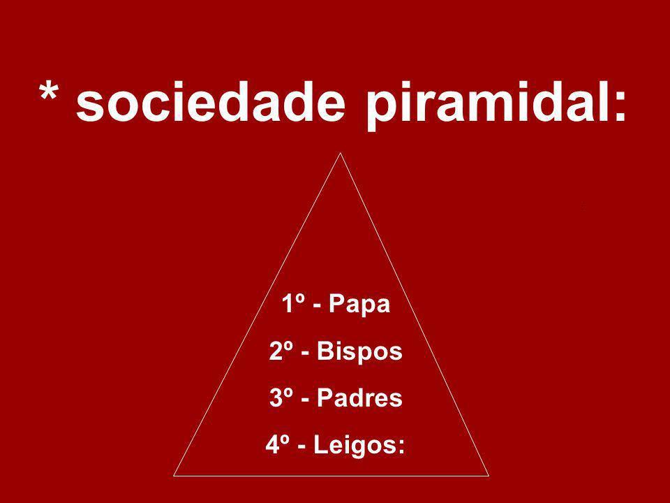 * sociedade piramidal:
