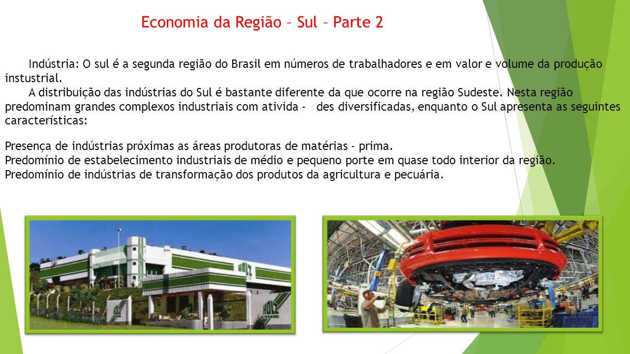Economia da Região – Sul – Parte 2