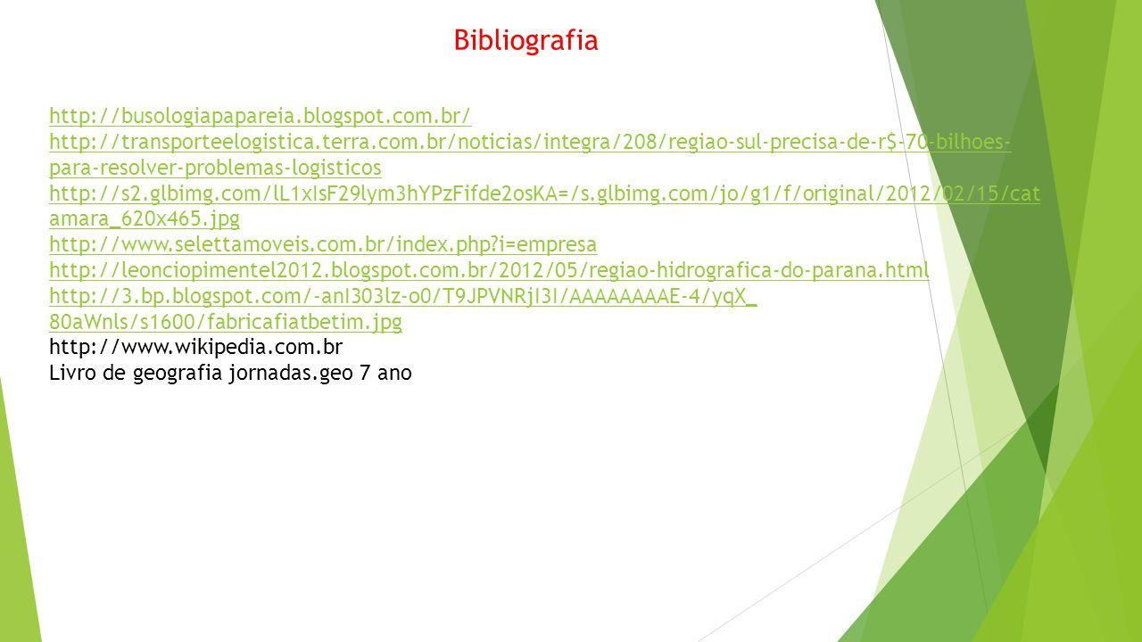 Bibliografia http://busologiapapareia.blogspot.com.br/