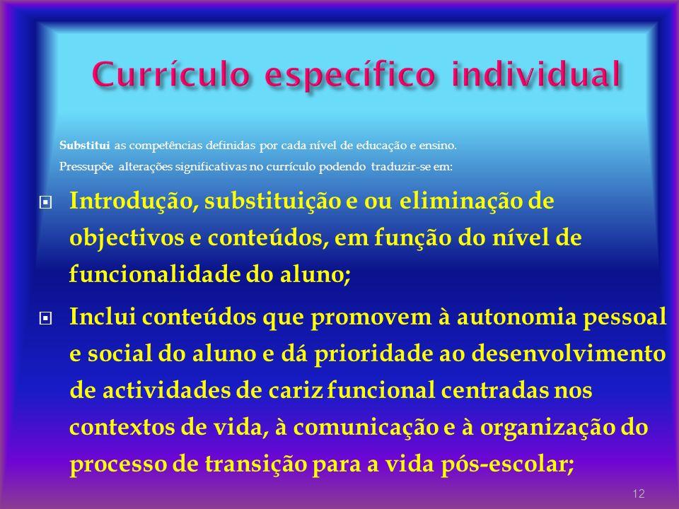 Currículo específico individual