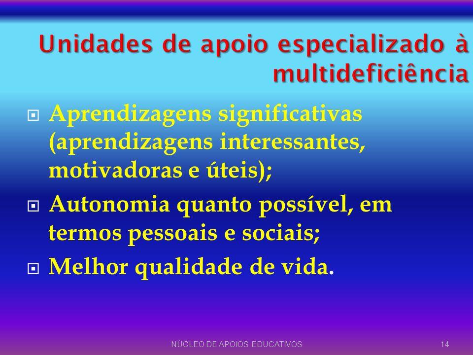 Unidades de apoio especializado à multideficiência