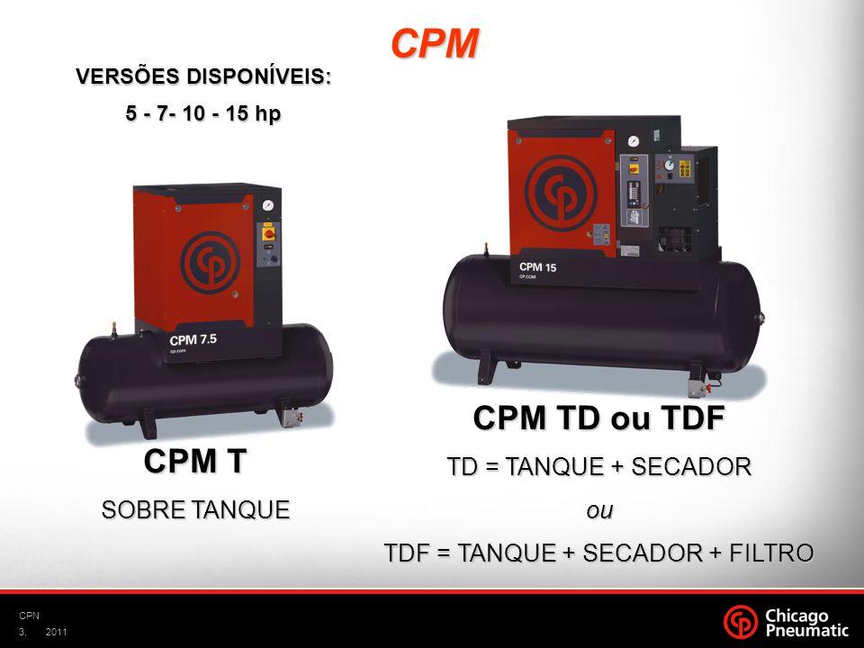 TDF = TANQUE + SECADOR + FILTRO