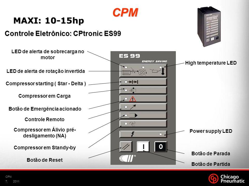 CPM MAXI: 10-15hp Controle Eletrônico: CPtronic ES99
