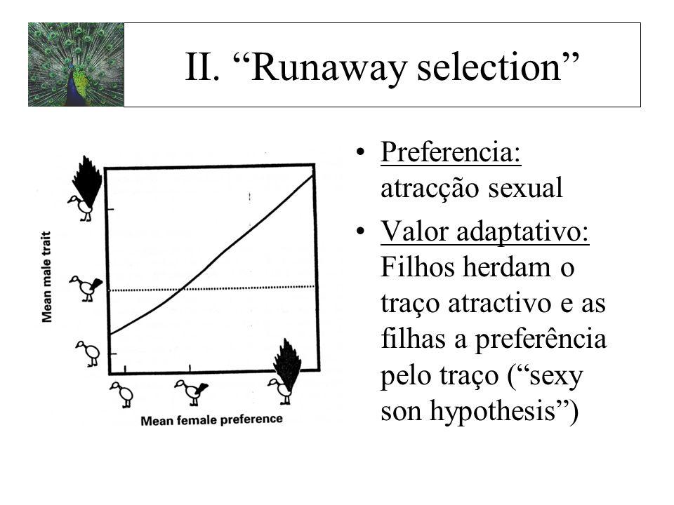 II. Runaway selection