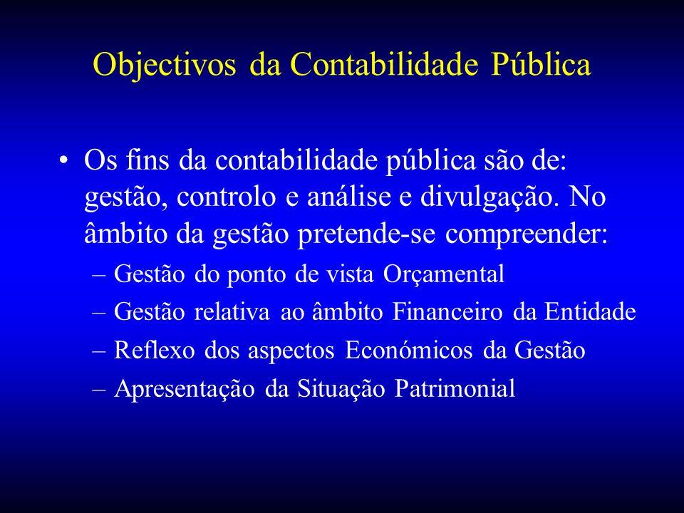 Objectivos da Contabilidade Pública