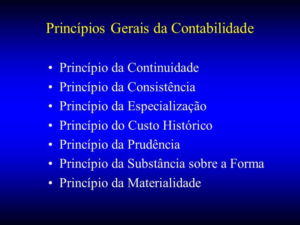 Princípios Gerais da Contabilidade