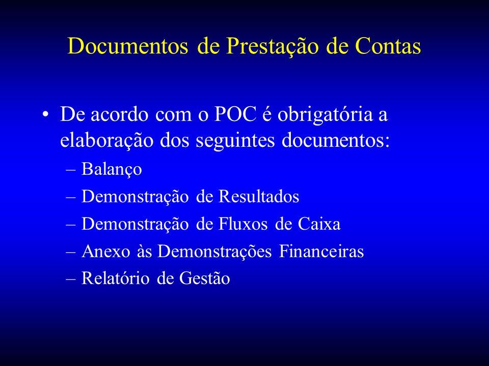 Documentos de Prestação de Contas