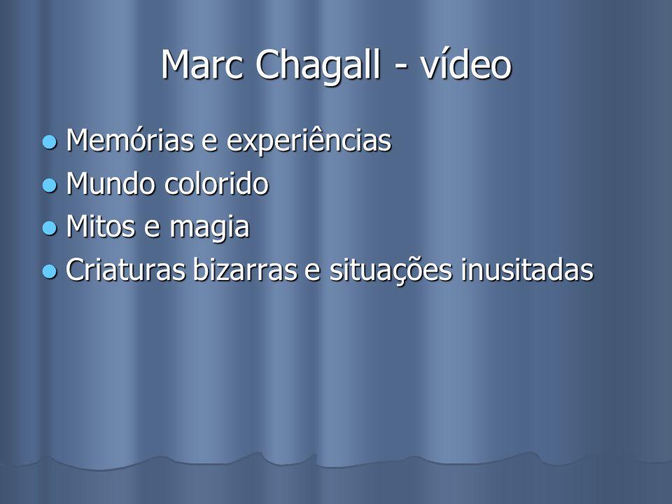 Marc Chagall - vídeo Memórias e experiências Mundo colorido