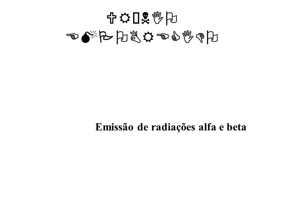 URÂNIO EMPOBRECIDO Emissão de radiações alfa e beta