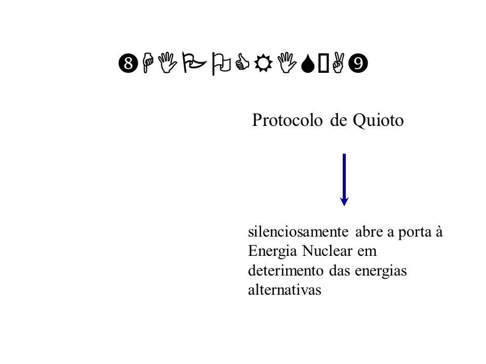 HIPOCRISÍA Protocolo de Quioto