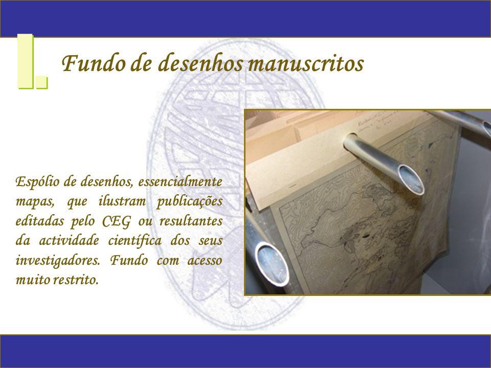 I. Fundo de desenhos manuscritos