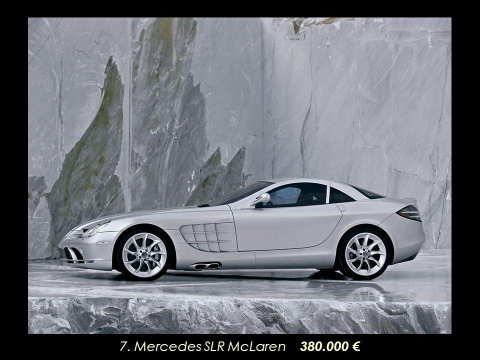 7. Mercedes SLR McLaren 380.000 €