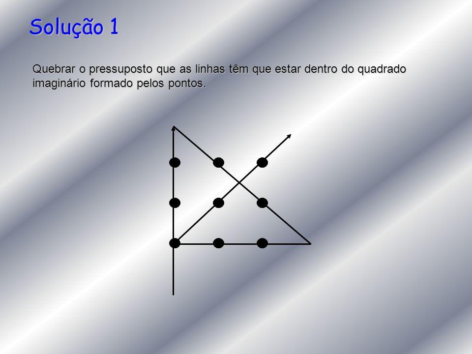 Solução 1 Quebrar o pressuposto que as linhas têm que estar dentro do quadrado imaginário formado pelos pontos.