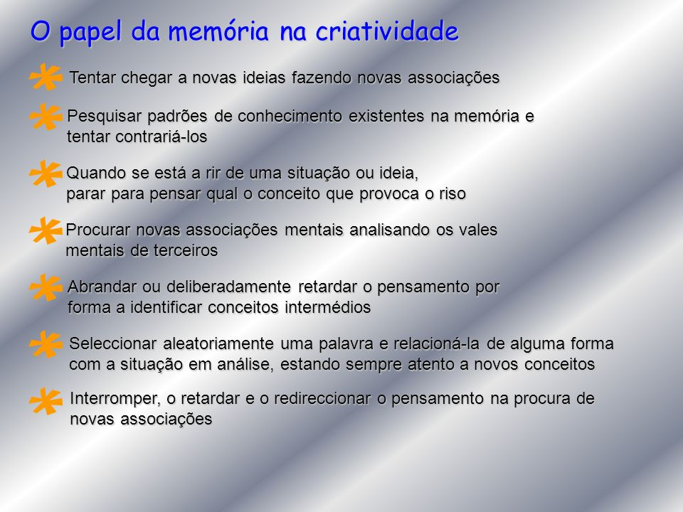 O papel da memória na criatividade