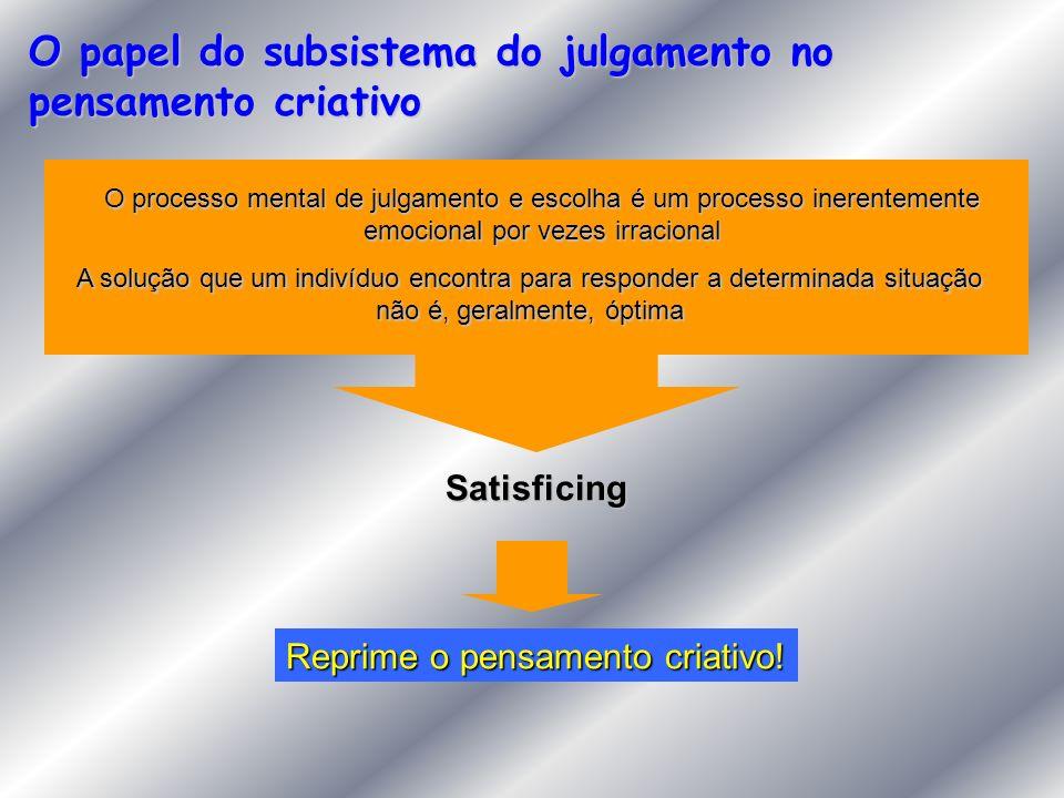 O papel do subsistema do julgamento no pensamento criativo