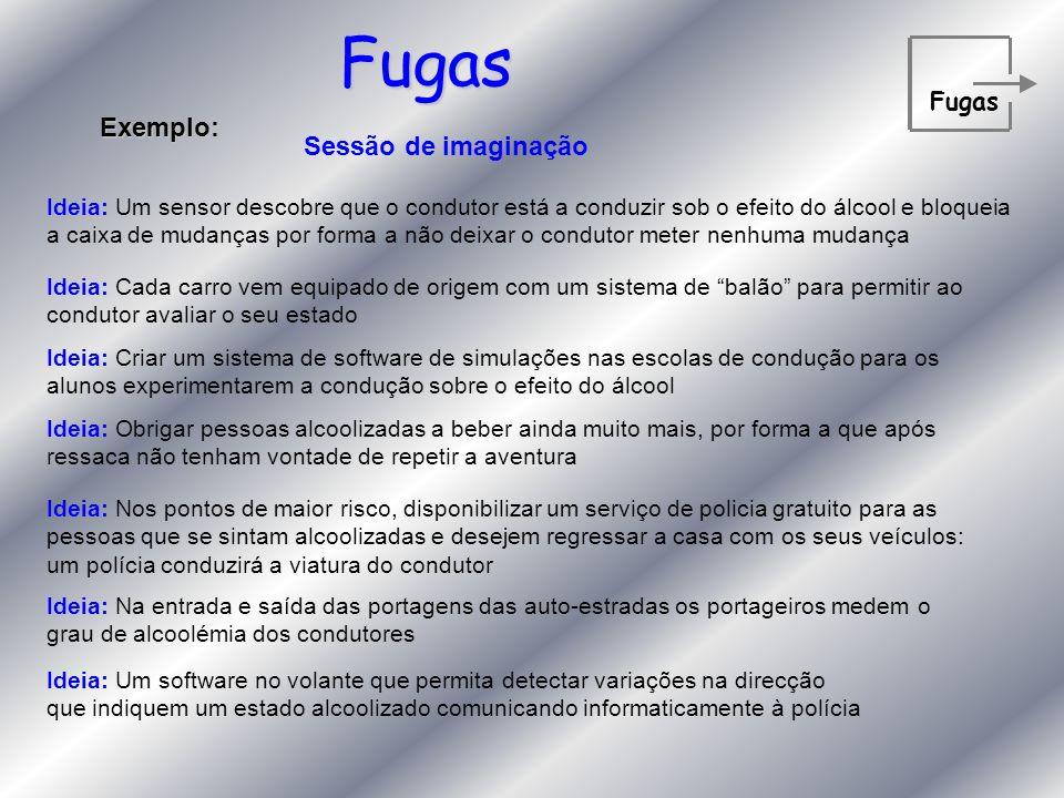 Fugas Exemplo: Sessão de imaginação Fugas
