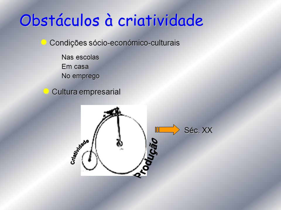 Obstáculos à criatividade