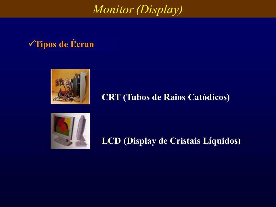 Monitor (Display) Tipos de Écran CRT (Tubos de Raios Catódicos)
