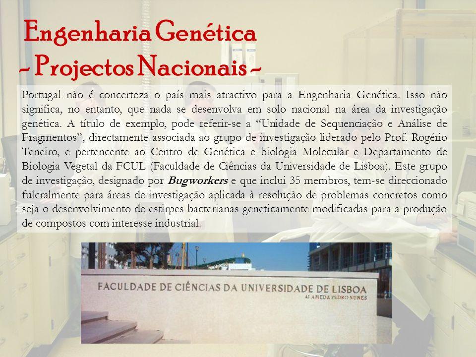 Engenharia Genética - Projectos Nacionais -
