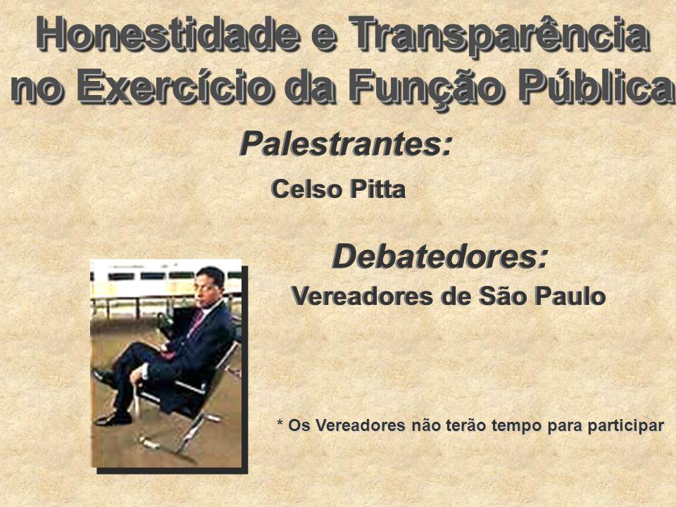 Honestidade e Transparência no Exercício da Função Pública