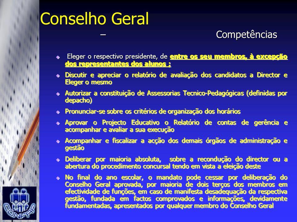 Conselho Geral Competências