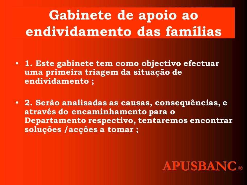 Gabinete de apoio ao endividamento das famílias