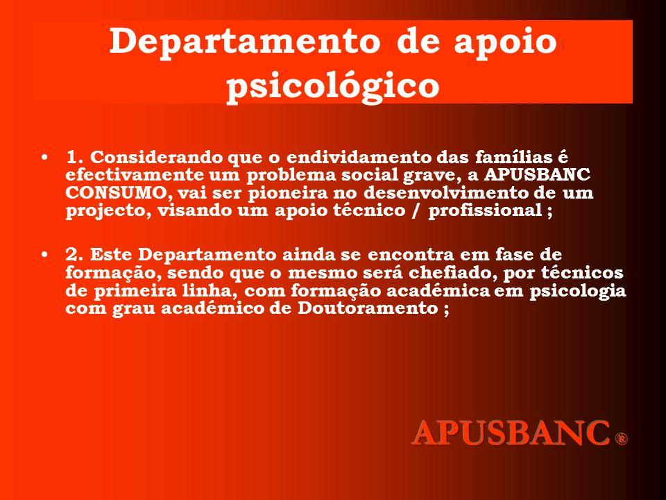 Departamento de apoio psicológico