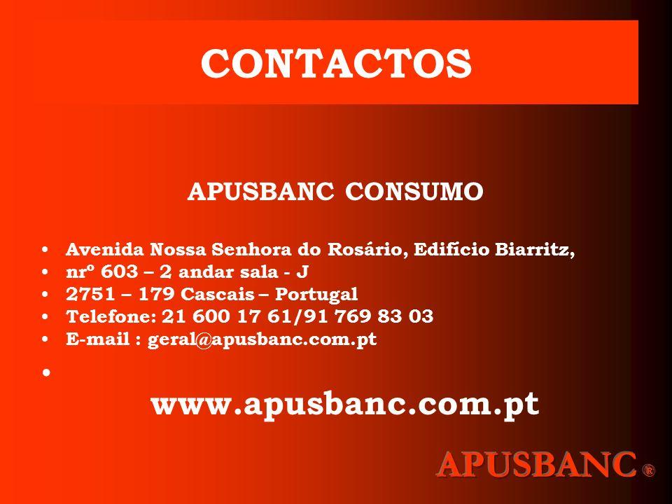 CONTACTOS APUSBANC ® APUSBANC CONSUMO www.apusbanc.com.pt