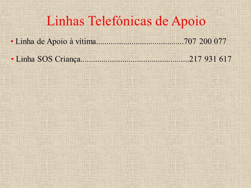 Linhas Telefónicas de Apoio