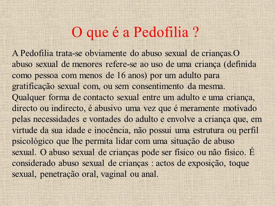 O que é a Pedofilia