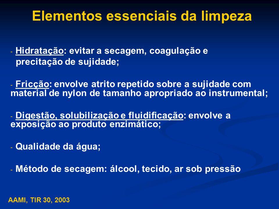 Elementos essenciais da limpeza
