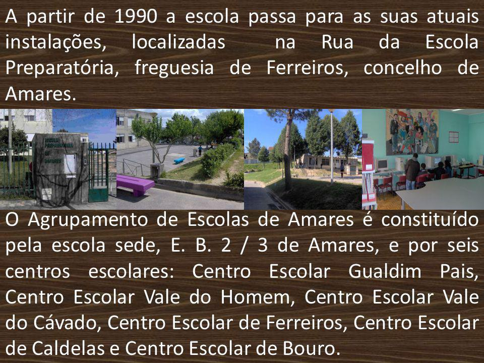 A partir de 1990 a escola passa para as suas atuais instalações, localizadas na Rua da Escola Preparatória, freguesia de Ferreiros, concelho de Amares.
