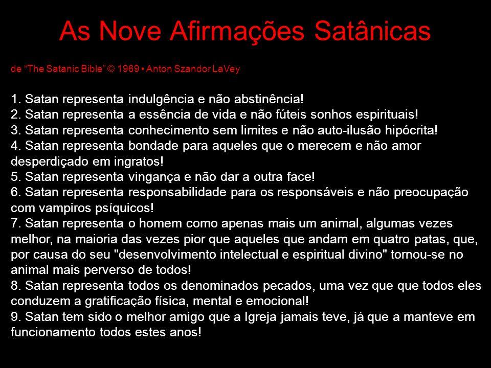 As Nove Afirmações Satânicas
