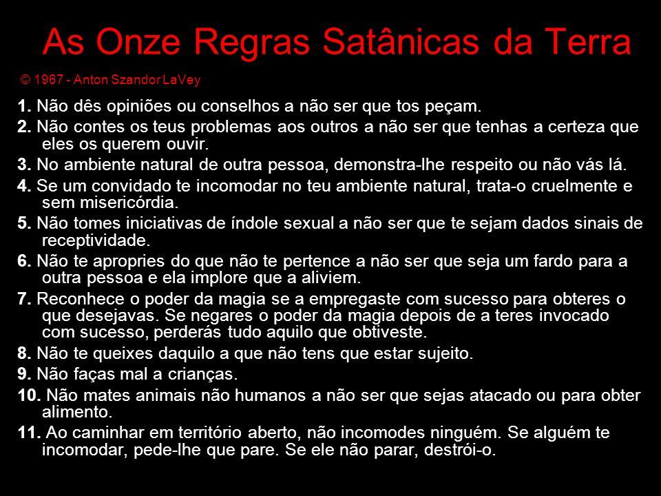 As Onze Regras Satânicas da Terra