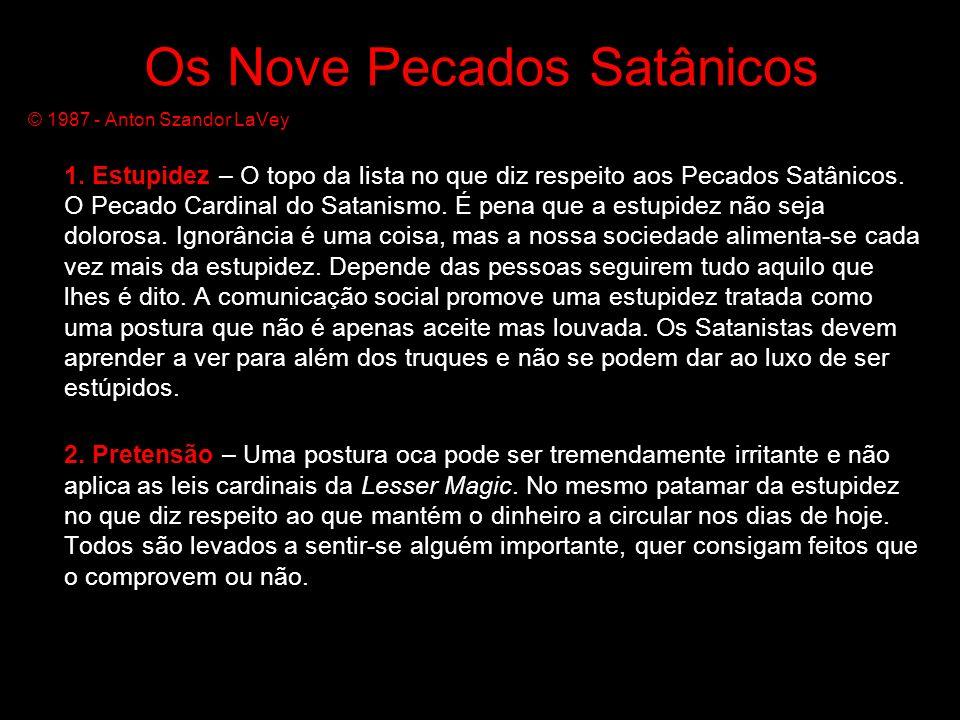 Os Nove Pecados Satânicos