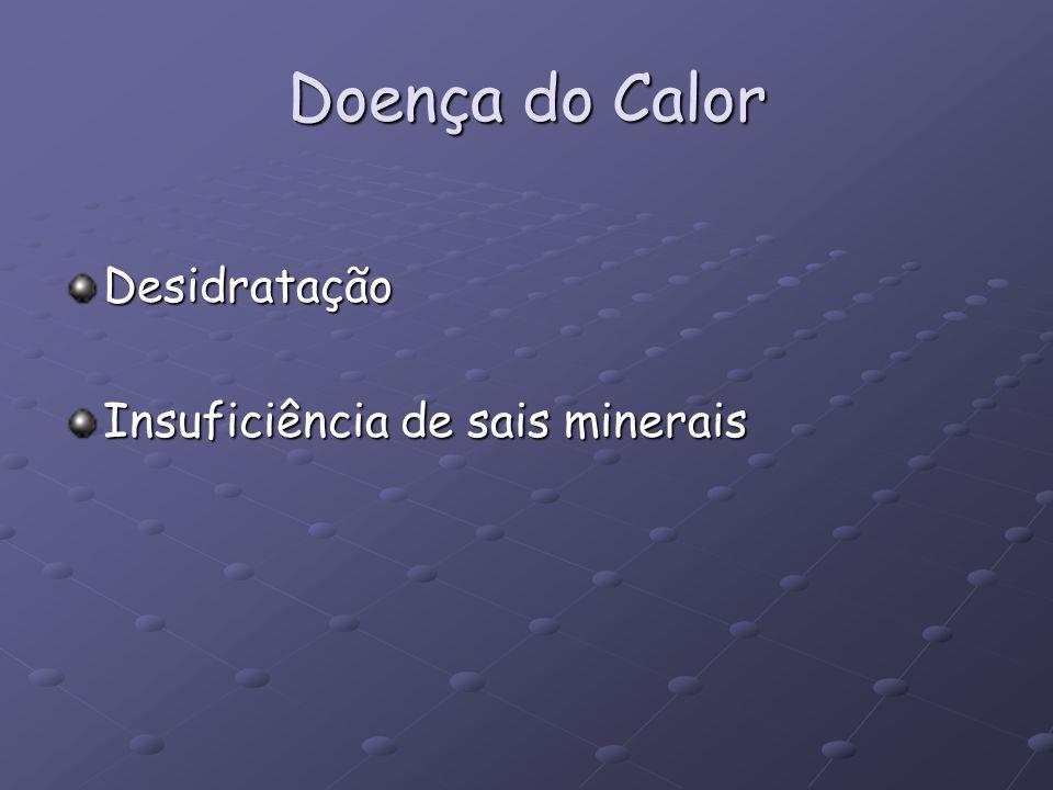 Doença do Calor Desidratação Insuficiência de sais minerais