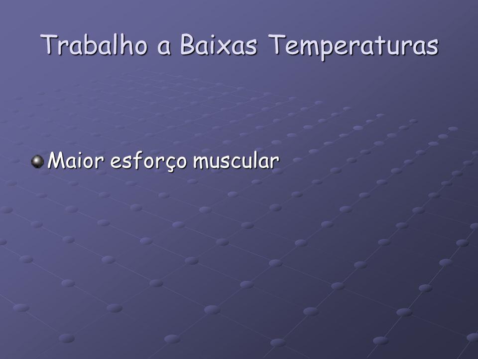 Trabalho a Baixas Temperaturas