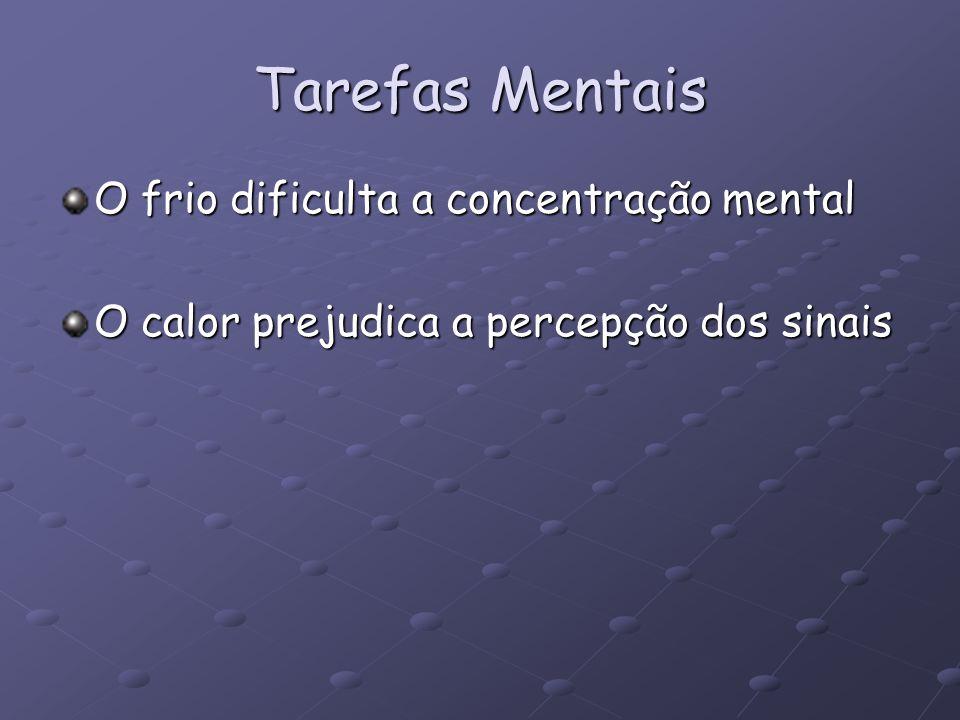 Tarefas Mentais O frio dificulta a concentração mental