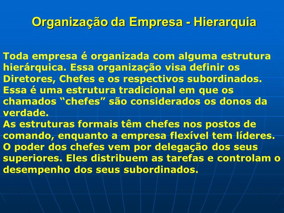 Organização da Empresa - Hierarquia