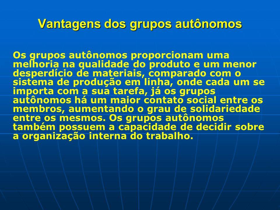 Vantagens dos grupos autônomos