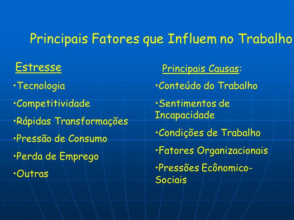 Principais Fatores que Influem no Trabalho