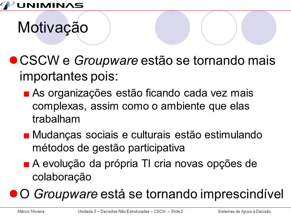 Unidade 5 – Decisões Não Estruturadas – CSCW – Slide 2