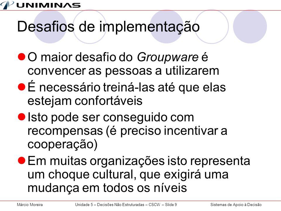 Desafios de implementação