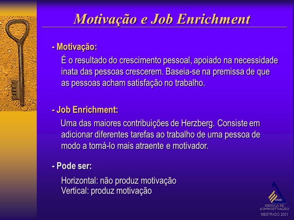 Motivação e Job Enrichment