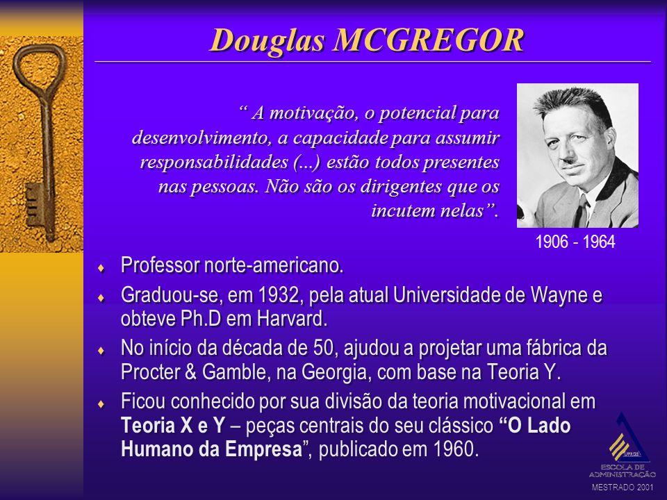 Douglas MCGREGOR Professor norte-americano.