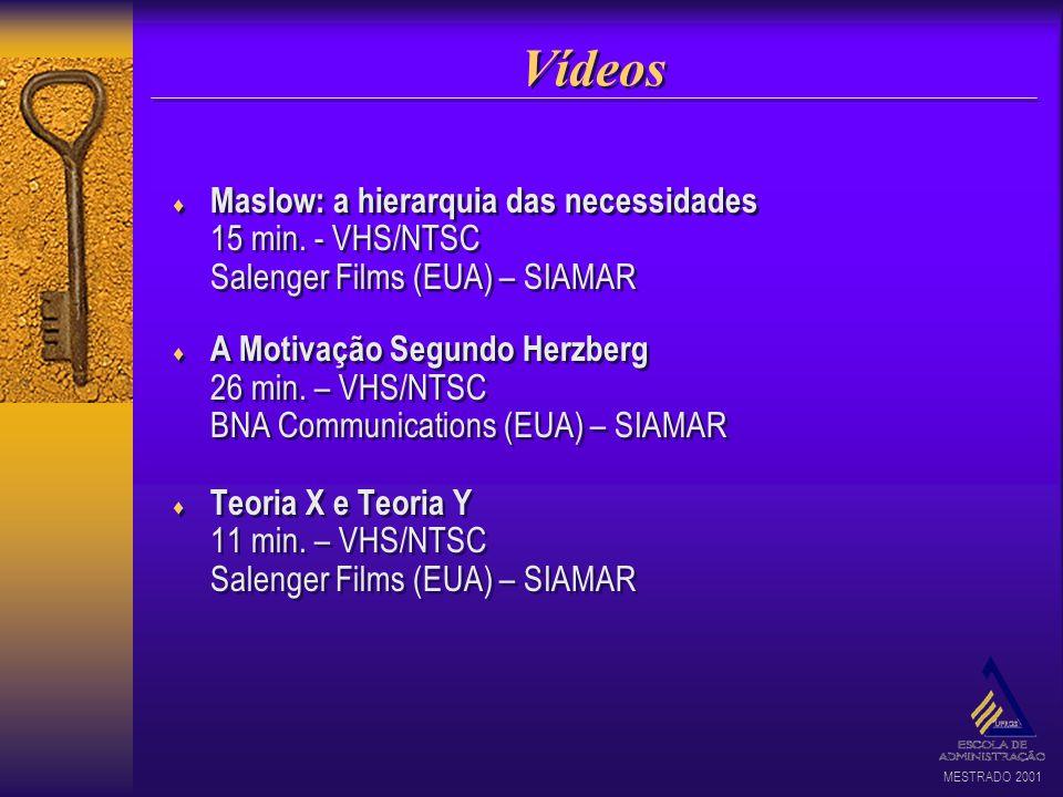Vídeos Maslow: a hierarquia das necessidades 15 min. - VHS/NTSC