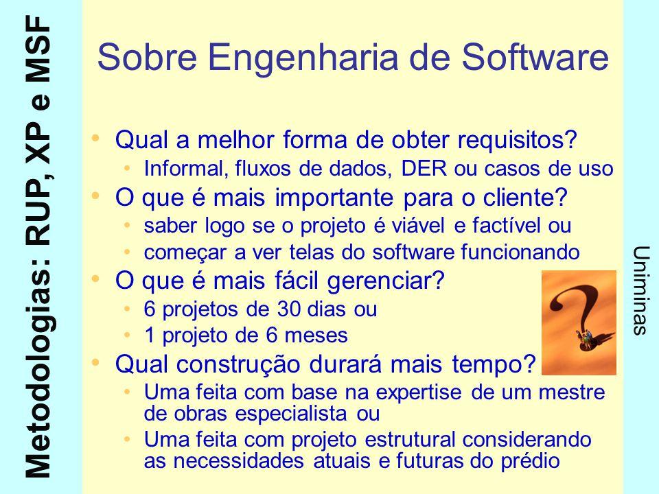 Sobre Engenharia de Software