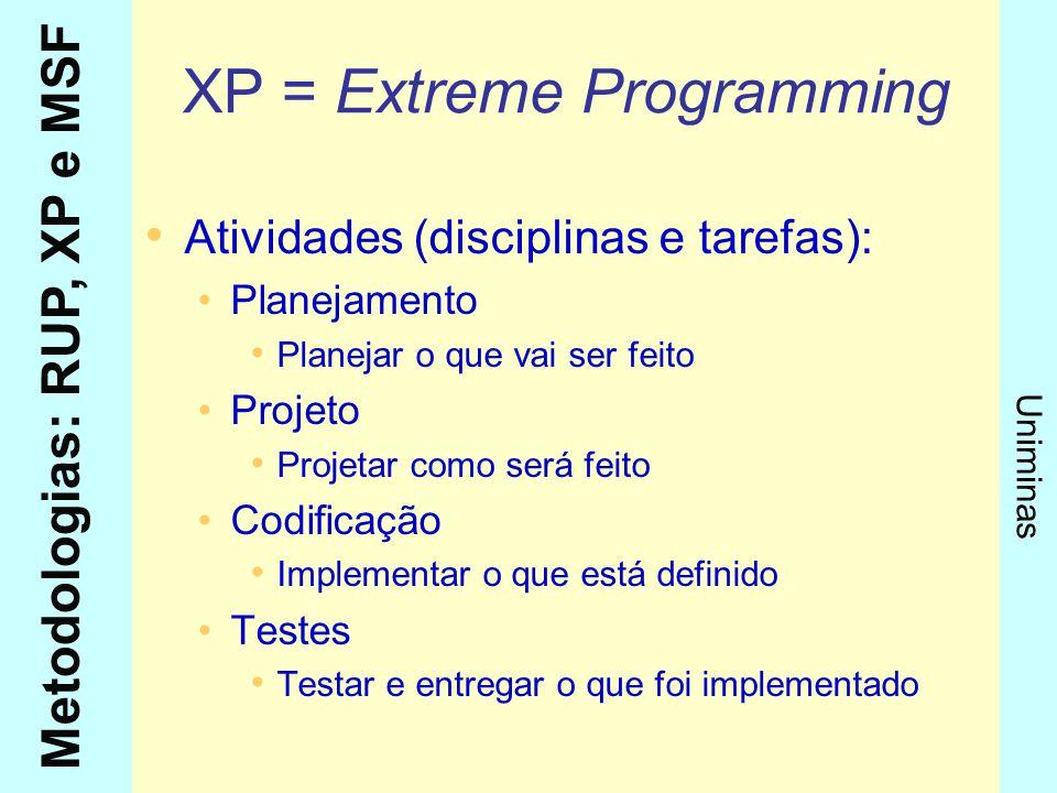 XP = Extreme Programming